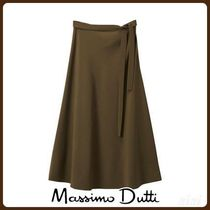 MassimoDutti♪PLAIN SKIRT WITH BOW DETAIL