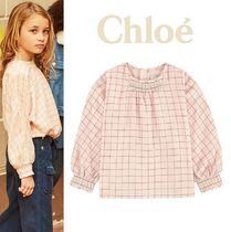 Chloeパリ発★チェックブラウス(6-12Y) 2018AW