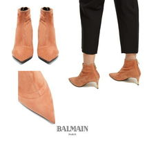 【BALMAIN】Point-toe suede ankle boots 7445