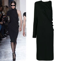 18-19AW VER149 LOOK37 ONE SHOULDER DRESS WITH HEADGEAR
