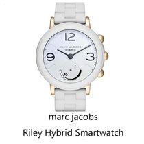 marc jacobs★riley hybrid smartwatch (white/gold)