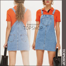 【国内発送・関税込】TOPSHOP★Raw Hem Denim Pinafore Dress