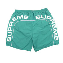 Supreme SS18 Arc Logo Water Short 緑 (Supremeステッカー付き)