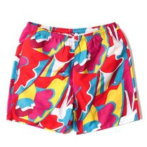 Supreme SS16 Abstract Water Short 赤 (Supremeステッカー付き)