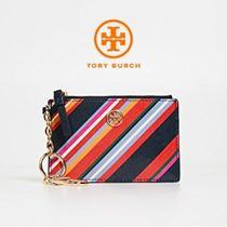 【TORY BURCH】Stripe Card Case Key Fob * カード&コインケース