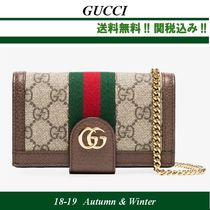 18AW新作★GUCCI(グッチ)GG Supreme iPhone 7/8 wallet case