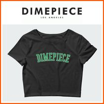 DIMEPIECE DESIGNS(ダイムピースデザイン ) Tシャツ・カットソー 新作☆DIME PIECE☆Athletic Black Women's Crop Tee Green