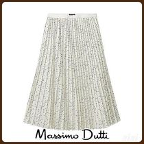 MassimoDutti♪PLEATED POLKA DOT SKIRT