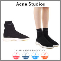 【Acneアクネ】『 Batilda black as sock high-top sneakers 』