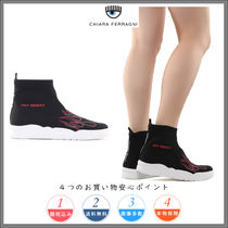 【Chiara Ferragni】Flame stretch-knit sock sneakers