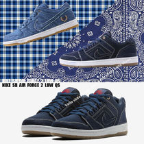 NIKE★SB AIR FORCE 2 LOW QS★デニム★ペイズリー柄