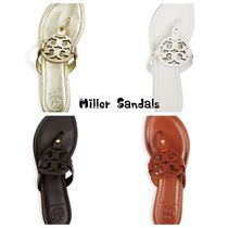 Tory Burch Miller Leather Thong Sandals関税込