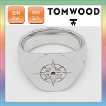 大人気!TOM WOOD  Compass Ring Ruby