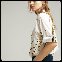 Massimo Dutti【NEW】FLORAL PRINT SILK and COTTON  SHIRT