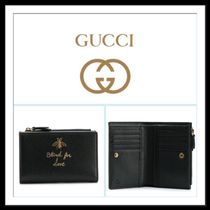 ★★GUCCI《 ANIMALIER BLACK LEATHER WALLET 》送料込み★★