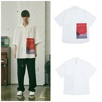 add(エーディーディー) シャツ 日本未入荷ADDのGRAPHIC OVERSIZED OPEN COLLAR SHIRTS