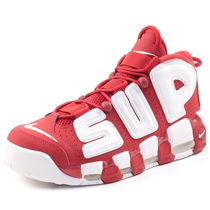 Supreme×NIKE SS17 AIR MORE UPTEMPO 白x赤 (ステッカー付き)