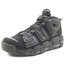 Supreme×NIKE SS17 AIR MORE UPTEMPO 黒 (ステッカー付き)