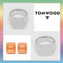 大人気!TOM WOOD Hexagon Satin / Polished  Ring