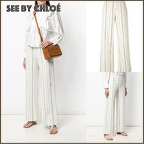 送料関税込☆SEE BY CHLOE striped flared trousers