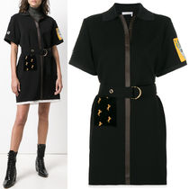 18-19AW C362 CREPE POLO DRESS WITH PATCH