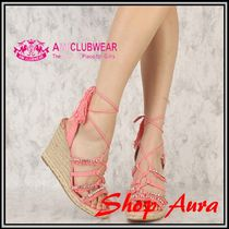 【送料無料!】★AMI Clubwear★cute♪Rhinestone Wedges Canvas