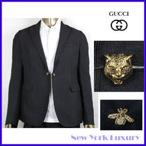 GUCCI★グッチ★素敵!Charcoal Wool Jacket W/tiger button