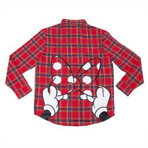 Minnie Mouse Bow Flannel Shirt for Adults by Cakeworthy