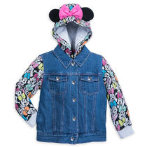 Minnie Mouse Denim Hooded Jacket for Girls