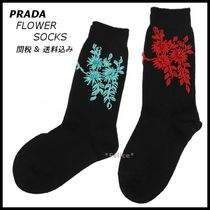 *PRADA*FLOWER SOCKS 2color 関税/送料込