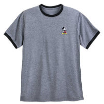 Mickey Mouse Embroidered Ringer T-Shirt for Men