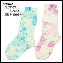 *PRADA*FLORAL SHORT SOCKS 2color 関税/送料込