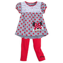 Minnie Mouse Red Dot Top and Leggings Set for Girls -