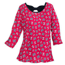 Minnie Mouse Bow Pattern Fashion Top for Girls