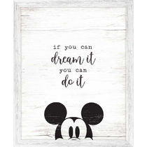 Mickey Mouse Framed ''Dream It'' Wall Decor