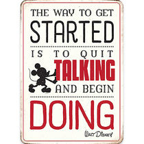 Mickey Mouse ''Quit Talking'' Tin Wall Decor