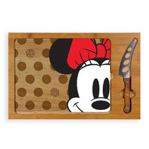 Minnie Mouse Glass Top Serving Tray and Knife Set