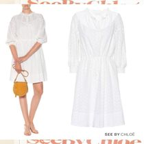 See by Chloe ワンピース Broderie anglaise レース コットン