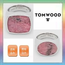 大人気!TOM WOOD Flush Pink Rhodonite Cushion / Oval Ring