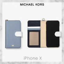 Michael Kors★Color-Block Saffiano Leather iPhone X