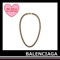 BALENCIAGA Chain Necklace brass antique aged gold