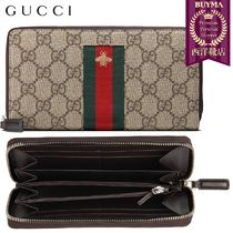 【正規品保証】GUCCI★18秋冬★WEB GGSUPREME ZIP AROUND WALLET