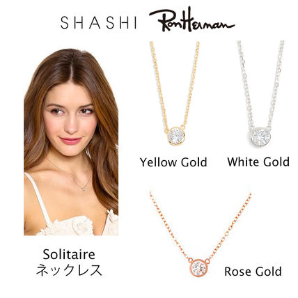 RON HERMAN 取扱 SHASHI Solitaire Necklace ネックレス 18k