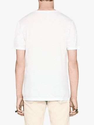 GUCCI Tシャツ・カットソー 【関税.送料無料!!】GUCCI☆GGロゴ付き ブランドプリントTシャツ(4)