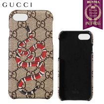 【正規品保証】GUCCI★18秋冬★KINGSNAKE PRINT IPHONE 8 CASE