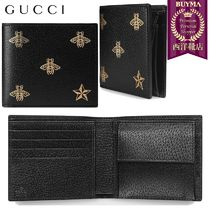 【正規品保証】GUCCI★18秋冬★BEE STAR LEATHER COIN WALLET