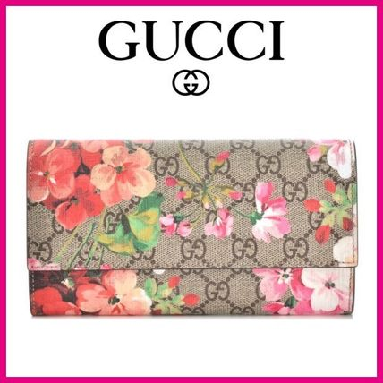 outlet store a9c43 08f66 ★GUCCI/グッチ★花柄×フラップ財布×ベージュ★最新作★