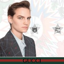 GUCCI Blind for Love シルバー ピアス