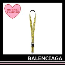 BALENCIAGA Yellow Power Of Dreams Lanyard neck strap holder