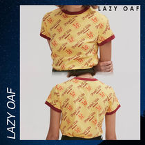 LAZY OAF Feed Me Fitted Tee シャツ Tシャツ 半袖 イエロー